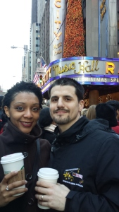 Pat and I in NY for Xmas to see the Radio City Christmas Spectacular